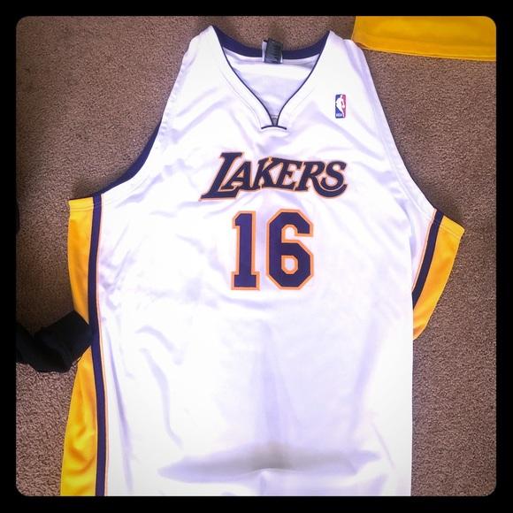buy online d3ec9 9bc70 Pau Gasol lakers jersey (2XL)
